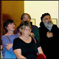 second row: Marianne Balint on the left,Tom Bongolan in the middle,Peter Lajtay on the right