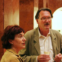 Endre Kovacs with Vera Baksa-Soos, curator of the exhibition