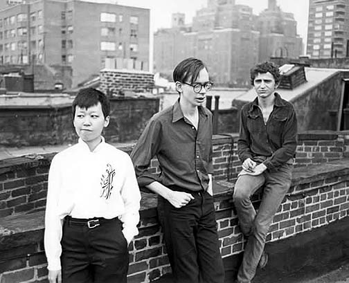 Ikue Mori, Arto Lindsay, Tim Wright in 1980 - photo by Tom Warren