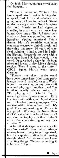 Martin Fischer's obit in the East Village Eye, April 1980