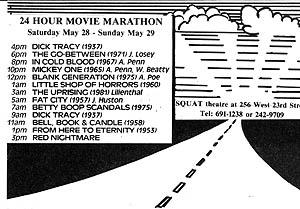 24 hour Movie Marathon at Squat Theater