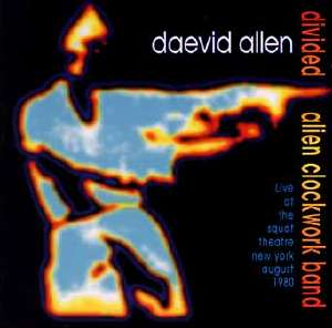 record cover of Daevid Allen live at Squat Theatre