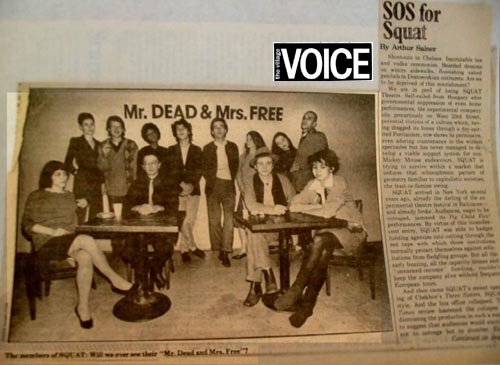 SOS for Squat a Village Voice article, 1980