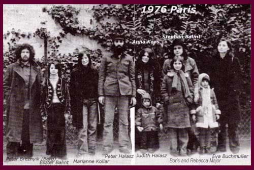 photo taken in early 1976 in Paris after the group's arrival from Hungary to France